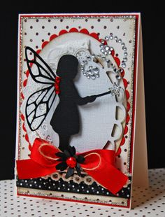 A card created using a Child's Year, Mother's Day Bouquet, and Elegant Edges Cartridges.
