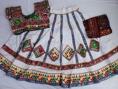 Navratri chaniya choli Designer Indian White and Lace by mfussion, $99.00