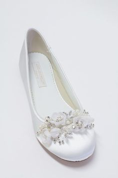 c0b06c76aeaf Wedding Flats Shoes - Ballet Flats - Choose From Over 150 Colors -  Sparkling Crystals -