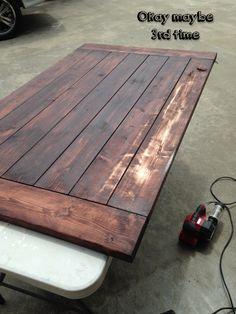 DIY Farmhouse Dining Table - Step 2
