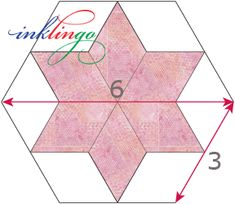 Wednesday Tute 07 – Inklingo Pieced Hexagons on http://www.lindafranz.com/blog/wednesday-tute-07-inklingo-pieced-hexagons/