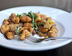 Sweet Potato Gnocchi with Apples, Bacon & Balsamic