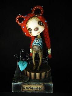 ooak surrealism Art doll Diorama ''Little by AnthiArtdolls on Etsy