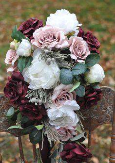 Wedding Flowers Wedding Bouquet Fall Wedding by Hollysflowershoppe