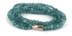 Perlearmbånd med magnetlås - materialer til lav selv smykker