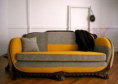 Reupholstered sofa design by ishka designs