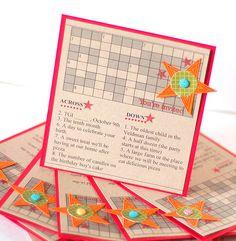 Crossword Puzzle Birthday Invitation by @Betsy Veldman