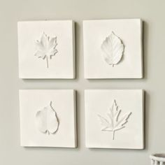 Good Life of Design canvas, spray paint and leaves make for a nice neutral Fall wall art.