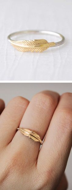 guldring fjer - Google Search