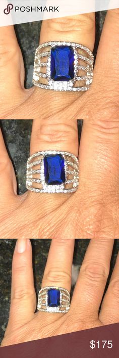Stunning Blue  white Sapphire rings Stunning Blue  white Sapphire rings size 7 & 9 Jewelry Rings