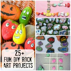 25+ Fun DIY Rock Craft Projects to Try - a collection of different DIY projects to try for home or your classroom | you clever monkey