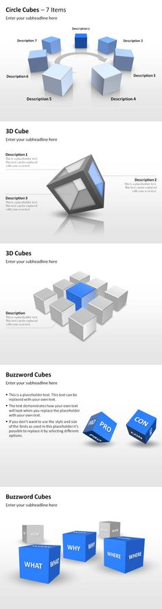 Cube PowerPoint Templates #powerpoint #business