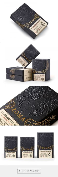 Zoma Cannabis - Packaging of the World - Creative Package Design Gallery - www. Tea Packaging, Bottle Packaging, Pretty Packaging, Label Design, Box Design, Branding Design, Package Design, Packaging Design Inspiration, Graphic Design Inspiration