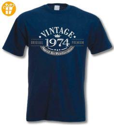 1974 Vintage Year - 43 Geburtstagsgeschenk / Gegenwart T-Shirt Navy XL (*Partner-Link)