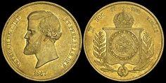 Brasile - Pedro II (1831-1889). 20000 Reis 1867, ORO BB.