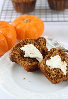 Pumpkin Banana Bran Muffins