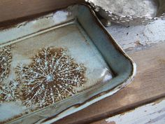 Queen Anne Lace Rustic Clay Plate by mudandfiber on Etsy, $22.00