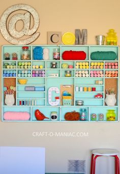 DIY Craft Cubby Wall - Craft-O-Maniac
