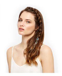 Brown Dreamcatcher Hair Clip  | New Look