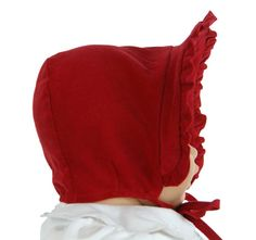 NEW Bailey Boys Vintage Style Red Pinwale Corduroy Bonnet with Ruffled Trim $30.00 #BabyBonnets