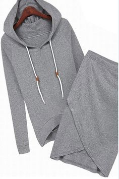 shop for Women Long Sleeve Hooded Top Asymmetrical Skirt and more for everyday cheap prices at Lalalilo.com - Your Online Womens Clothes Store
