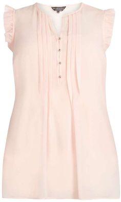 Plus Size Blush Frill Detail Blouse