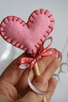 How sweet it is to be loved by you. (Valentine's Day): Felt Hearts