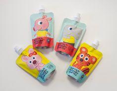Kids Packaging, Juice Packaging, Pouch Packaging, Cosmetic Packaging, Brand Packaging, Packaging Design, Chipmunk Food, Dragon Fruit Smoothie, Kid Drinks