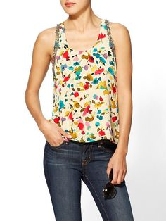 This fabric is totally gorgeous!! Watercolor Print Tank by MM Couture
