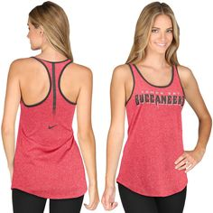 Women's Tampa Bay Buccaneers Nike Red Core Fan Marled Tank Top