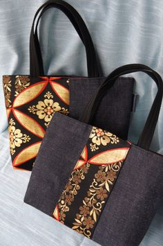 Japanese obi & denim bags great job please Visit my site https://www.upcyclingbymilo.com/ for more products
