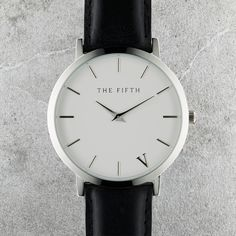 The Fifth Watches New York Classic // Upper East - Polished Silver Casing, 316L Stainless Steel Bezel, Hardened Mineral Crystal Lens, Japanese Quartz Movement, Water Resistant 5ATM, Face Diameter 41.0mm, Case Thickness 6.0mm
