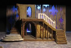 """Scenic Design for Utah State University's production of """"The Three Musketeers"""" adapted for the stage by Ken Ludwig from the novels by Alexander Dumas. Two units moved into different positions to create 22 different scene changes while the action was still…"""