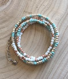Boho Beach Style Wrap Bracelet with Sea Turtle Charm /