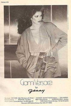 vintage elegant Versace silk  1979