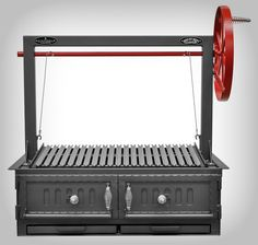 Santa Maria w/Fire Brick, Grill Head & Firebox, Double Door, Single Grate - Item Commercial Outdoor Barbeque, Outdoor Oven, Barbecue Grill, Outdoor Cooking, Grilling, Outdoor Kitchens, Wood Charcoal, Charcoal Grill, Backyard Pool Designs