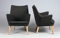 Pair of Lounge chairs by Hans J. Wegner for AP Stolen. | From a unique collection of antique and modern lounge chairs at http://www.1stdibs.com/furniture/seating/lounge-chairs/