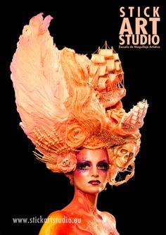 Escuela de maquillaje artístico.  Realizado por Alejandra Ortiz, maestra de Stick Art Studio.  Barcelona, España