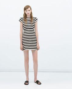 Zara Striped Dress with Flared Skirt $59