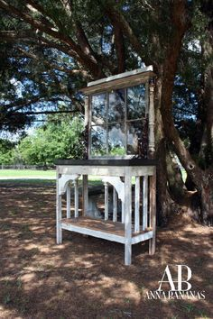Repurposed Items in the Garden | Gardens / Great entertaining server made from repurposed items.