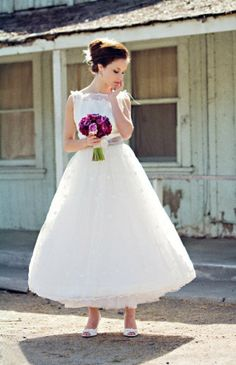 ankle lengh wedding dresses