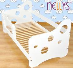 Juniorská posteľ Nellys ® Bubble biela-farba: biela, rozmer: 140x70cm