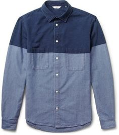 NN.07 Clark Block-Colour Cotton Shirt on shopstyle.com