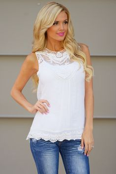 Pretty Little Things Top - Ivory from Closet Candy Boutique
