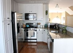 3 steps to successfully painting kitchen cabinets.