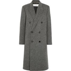 Saint Laurent Herringbone wool-blend coat (194.830 RUB) ❤ liked on Polyvore featuring outerwear, coats, saint laurent, blend, coats & jackets, double-breasted coat, wool blend coat, dinner suit, yves saint laurent and double breasted tuxedo