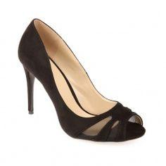 Escarpin peep-toes noir