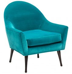 Calvin Chair, Aquamarine - Furniture - Chairs - Fabric  - What's New  - Made in the USA Furniture - Bold & Beautiful