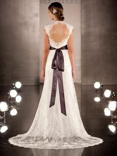luxurious-sheath-wedding-dDress-overlay-lace-illusion-neckline-and-keyhole-back-2