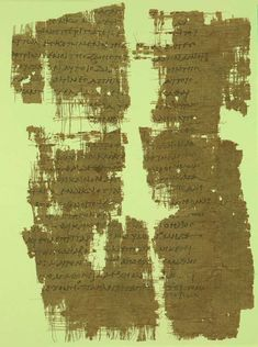 Papyrus manuscript fragments of the Epistle to the Ephesians. It contains Ephesians 4:16-29; 4:31-5:13. Dates from around 250 AD, found in Egypt and was purchased for the Yale University Library.